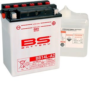 BS Battery Batterie BS BB14L-A2 conventionnelle livrée avec pack acide