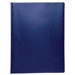Exacompta Lot de 5 protège-documents PVC - 80 vues - vega opaque- A4 - Bleu - 88422E