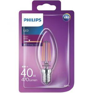 Philips Ampoule LED flamme filament E14 - 470 Lumens - 4 W