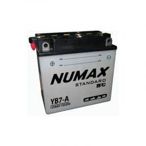 Numax Batterie moto Standard avec pack acide YB7-A 12V 7Ah 105A