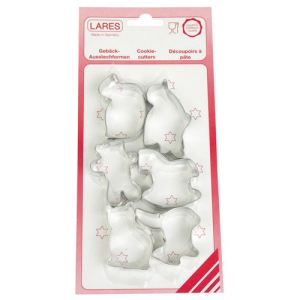 Lares 1011 - 6 découpoirs assortis Animaux (5 cm)