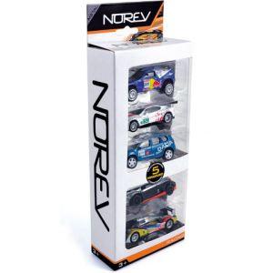 Norev Coffret de 5 voitures Racing et accessoires