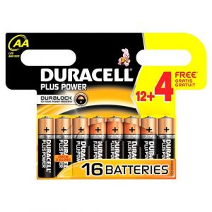 Duracell Pile PLUS POWER LR06 AA 12+4