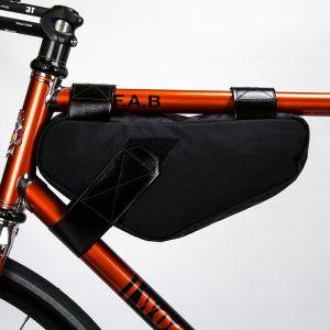 Restrap Frame Bag Medium Black Sacoche de Cadre Étanche Rangement Accessoires Bagagerie Vélo Mixte Adulte, Noir