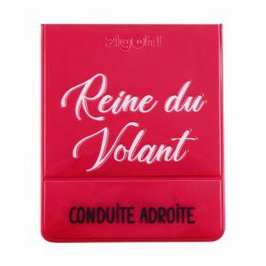 1 Porte Vignette Assurance Zigoh Reine Du Volant Rose
