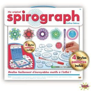 Splash Toys Spirograph - Deluxe kit + palette stylo néon & glitter