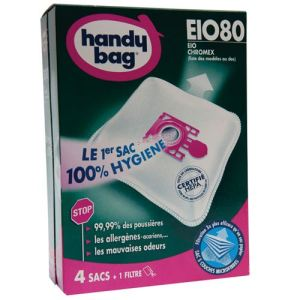 Image de Handy Bag EIO80 - 4 sacs aspirateur en microfibres et 1 filtre sortie d'air