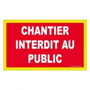 Novap Panneau de signalisation chantier interdit au public