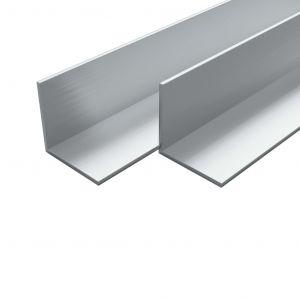 VidaXL Cornière Aluminium 4 pcs Profil en L 2 m 50x50x2 mm