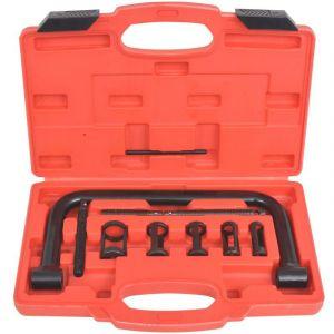 VidaXL Kit de 10 outils de compresseur de ressort à valve