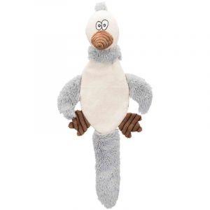 Trixie Peluche Oiseau 45 cm - Blanc et gris - Pour chien