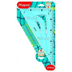 Maped Équerre 60° Incassable Flex en plastique 26 cm