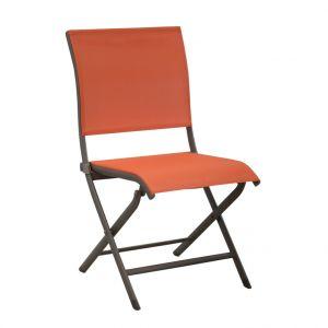 Chaise pliante ELEGANCE café/paprika