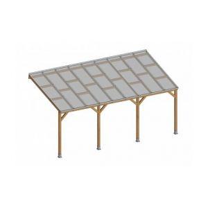 Keter Toit Couv'Terasse Bois 3x5,5m avec toit polycarbonate