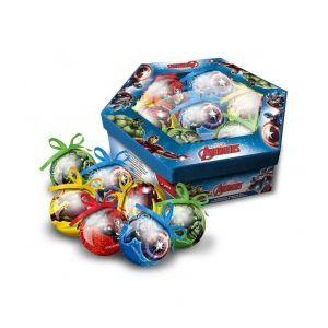 7 boules de Noël Avengers (7.5 cm)