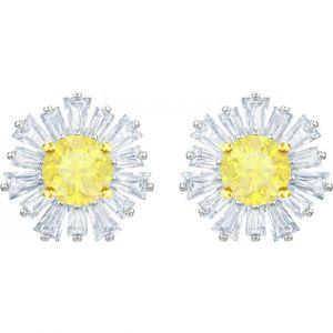 Swarovski Boucles d'oreilles 5459591 - Boucles d'oreilles Fleurs Jaunes Argentées