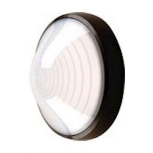 Ebénoid Hublot extérieur fluo 1X13W Ø 250mm noir polycarbonate lampe 4000K G24d-1 ballast elec CL2 IK08 IP44 SUPER 62 078671