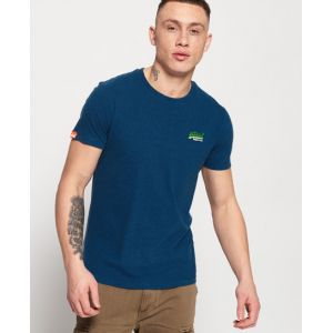 Superdry T-shirt brodé Vintage Orange Label - Couleur Bleu - Taille XXXL