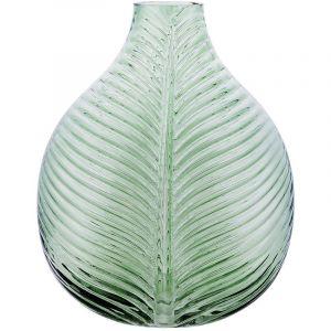 Beliani Vase en verre vert SONDRIO