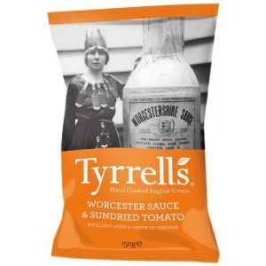 Tyrrell's Chips Lisses Sauce Worcestershire/Tomates 150 g