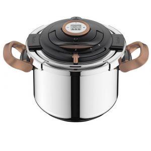 Seb Clipso®+ Precision - Autocuiseur Copper 8L Poignées rabattables