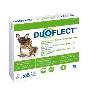 Ceva Duoflect chien 2-10 kg et chat >5 kg 6 pipettes
