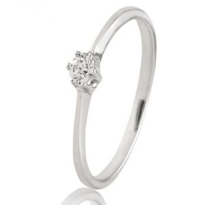 CaraShop 3663644018311 - Solitaire diamant en or blanc