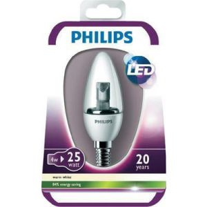 Philips 929000209201 - Ampoule LED Flamme Lisse Culot E14 4 Watts consommés (Equivalence incandescence 25W)