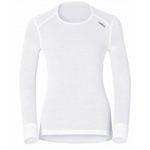 Odlo Originals Warm T-Shirt chaud col rond manches longues femme Blanc Taille Fabricant : L