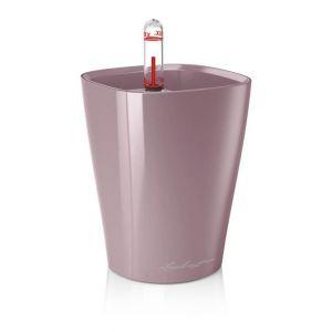 Lechuza Premium Deltini Mini Pot Avec Bac Et Système D'Arrosage Violet Pastel Brillant