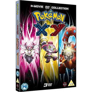Pokemon Movie 17-19 Collection: XY (Diancie and the Cocoon of Destruction, Hoopa and the Clash of Ages, Volcanion and the Mechanical Marvel) [DVD]