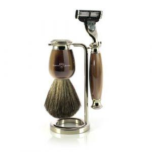 Edwin jagger Kit de rasage avec blaireau et rasoir Gillette Mach 3