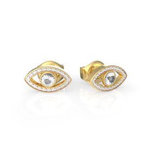 Guess : Boucles d'Oreilles GET LUCKY UBE29001 - puces acier doré ?il