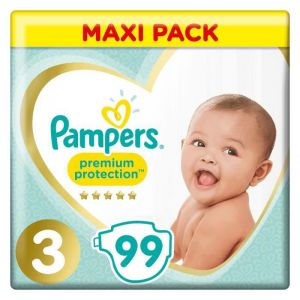 Pampers Premium Protection Taille 3 6-10kg 99 Couches