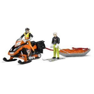 Bruder Toys 63100 - Moto neige avec traineau de sauvetage