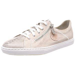 Rieker L0943, Sneakers Basses Femme, Beige (Ginger/Nude-Silver/Rose), 36 EU