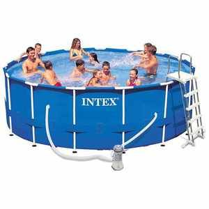 Intex Piscine tubulaire metal frame 4,57 x h1,22m