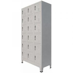 VidaXL Vestiaire avec 18 compartiments Métal 90 x 40 x 180 cm