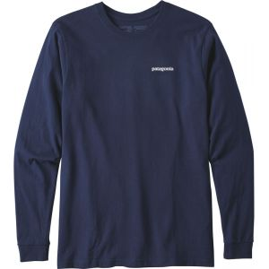 Patagonia P-6 Logo - T-shirt manches longues Homme - bleu L T-shirts techniques