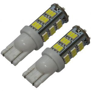 Aerzetix : 2x ampoule T10 W5W 12V 42LED SMD blanc effet xénon veilleuses éclairage intérieur seuils de porte plafonnier pieds lecteur de carte coffre compartiment moteur plaque d'immatriculation minéralogique