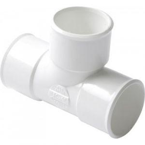 Nicoll Té PVC blanc pied de biche à 87°30 Ø 50 N