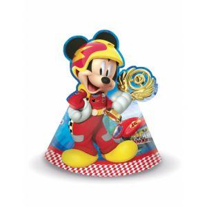 6 chapeaux de fête Mickey & Donald Racing