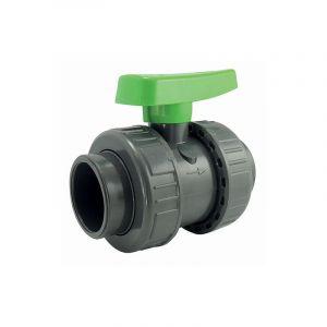 Ezfitt Vanne à sphère double union - serie irrigation - raccordement femelle à coller - 50mm