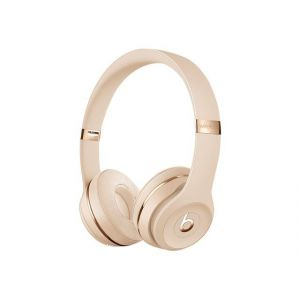 """Beats By Dre Solo3 - Casque avec micro - sur-oreille - Bluetooth - sans fil - isolation acoustique - or satiné - pour 10.5"""" iPad Pro; 9.7"""" iPad; 9.7"""" iPad Pro; iPhone X, Xr, Xs, Xs Max"""