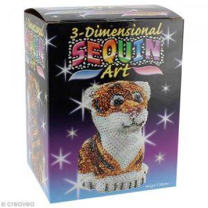 KSG Kit Sequin art 3D - Tigre - 13 cm