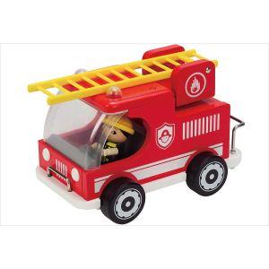 Hape Camion de pompier de bois
