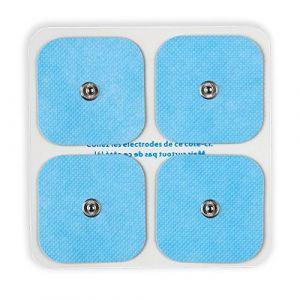 Bluetens Pack de 4 électrodes 5 x 5 cm