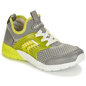 Geox J Sveth A, Sneakers Basses Garçon, Gris (Grey/Lime), 35 EU