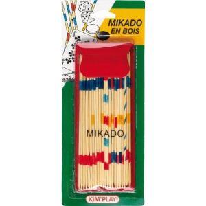 Kim'play Mikado en bois dans une pochette