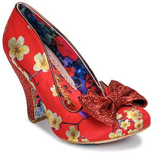 Irregular Choice Chaussures escarpins NICK OF TIME rouge - Taille 36,37,38,39,40,41,42,43
